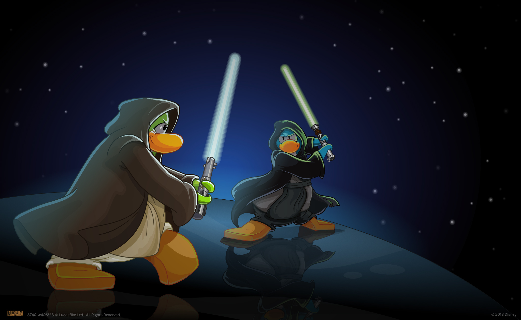 Join The Rebel Alliance And Save The Galaxy In Club Penguin Fun