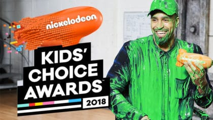 Ashley Banjo From Diversity Is Slimed As He Wins Uk Inspirational Role Model At The 2018 Nickelodeon S Kids Choice Awards Fun Kids The Uk S Children S Radio Station