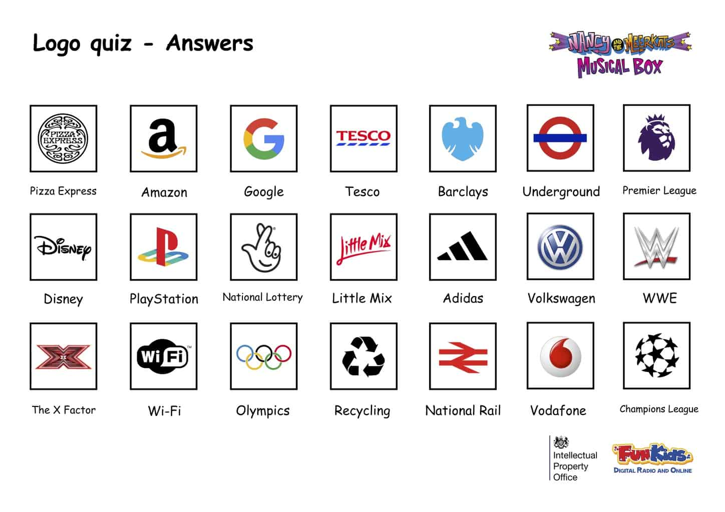 Logo Quiz Answers - Fun Kids - the UK's children's radio ...